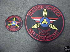 Mamer Shreck Air Transport Jacket Patch set Spokane Nick Mamer & Roy Shreck 1940