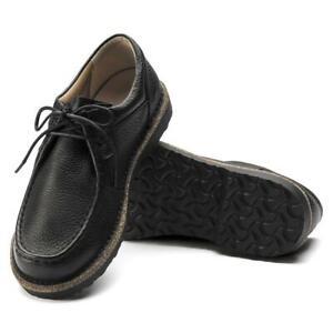New Men's Birkenstock Pasadena II Leather Shoes Size 9-9.5 Euro 42 Black 1015014