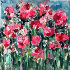 Bloom Forever Floral Abstract Painting On Watercolour Paper Flowers Mother's Day