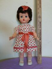 "Vintage 14"" Plastic Doll 4298 K61 Brown Hair"