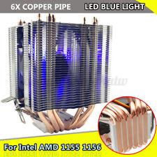 6 Pipes Aluminum CPU Cooler Fan Heatsink For Intel LAG1156/1155/1150/775 AMD