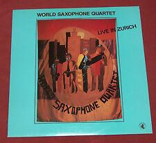 WORLD SAXOPHONE QUARTET LP LIVE IN ZURICH  BLACK SAINT