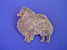 Keeshon or Keeshonden pin STANDING #89A Pewter dog jewelry by Cindy A. Conter