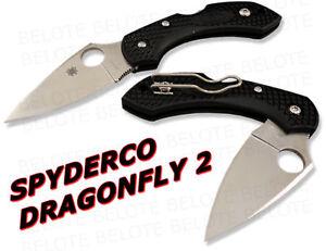 Spyderco DragonFly2 Plain Edge Folder 2nd Gen C28PBK2