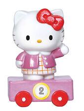 Precious Moments Hello Kitty Age 2 Birthday Train Porcelain Figurine Topper Deco