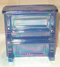 Piano Candy Container Glass Childs Cobalt Blue Carnival Penny Toy Upright Player