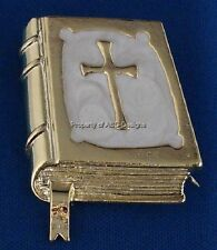Signed DaneCraft Mother of Pearl Bible Brooch 5980
