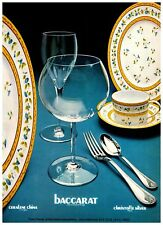 Ceralene China Baccarat Crystal Christofle Silver France 1970s Vintage Print Ad