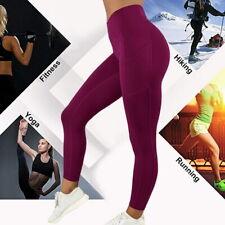 Anti-Cellulite Compression High Waist Yoga Fitness Legging Push Up Sport Pants @