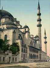 Türkei. Konstantinopel. Solimanieh-Moschee. PZ vintage photochromie, photochrom