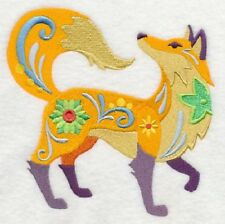 Embroidered Ladies Fleece Jacket - Flower Power Fox L4006 Sizes S - Xxl
