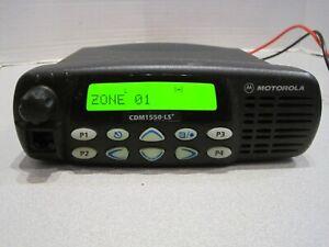 MOTOROLA CDM1550LS+ 403-470MHz 40W 160Ch. MOBILE RADIO AAM25RKF9DP6AN