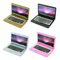 1 Pcs 1/12 Dollhouse Miniature Mini Laptop Black/Sliver/Gold/Pink Room_Item V8L6