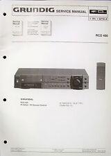 Original GRUNDIG Service Handbuch für HiFi Rec m CD-Player RCD 400 + RCD RCD405