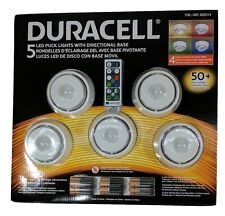 New, Duracell 5 LED Puck Remote Control, 4 Color Lights, with Directional Base