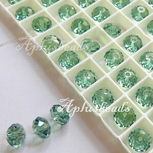 12PCS 8MM Swarovski Crystal Faceted Rondelle Beads #5040, pick colors