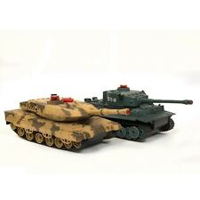 SALE Remote Control RC Infrared Millitary Army War Battle Shooting Tank Set Of 2