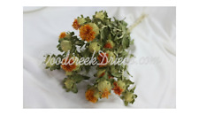 NATURAL AIR DRIED ORANGE SAFFLOWER FLOWERS FLORAL FOLIAGE FLOWER