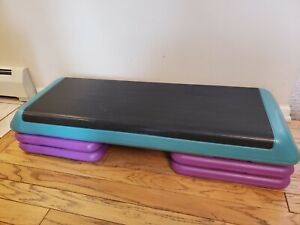 Vintage 90s 1990's The Step Original Aerobic Exercise Platform 4 raisers