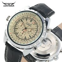 JARAGAR Leather Band Mechanical Automatic Watches Men's Wrist Watch Military