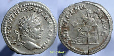 Ancient Roman Coin - Silver Denarius of Caracalla - Indulgentia Reverse