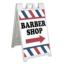 Barber Shop Right Arrow Signicade 24x36 Aframe Sidewalk Sign Banner Decal Salon