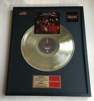 Slipknot - Slipknot 1999 Vinyl Gold Metallisierte Schallplatte im Rahmen...