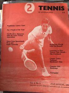 Tennis In Australasia April 1956 Vol 2 No 3 Magazine Chesterfield Racket Ex Cond