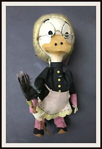 ⭐ LENCI GRANDMA DUCK DISNEY - Italian doll from '50s - DISNEYANA.IT ⭐