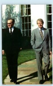 PRESIDENT JIMMY CARTER & Shah Mohammed Reza Pahlavi at White House 1979 Postcard