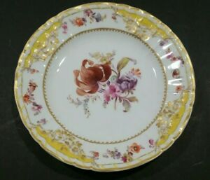 Antique Kpm Berlin Rocaille Palace of Potsdam Hand Painted Plate