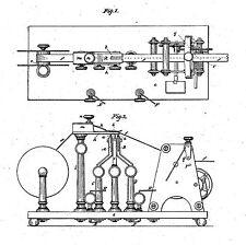 Alter, antiker Telegraf, Telegraphie-Geschichte 1840-1880 (Morse/Edison..)