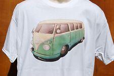 graphic retro art vintage Cotton Mens T Shirt , S,M,L,XL , VW BUS