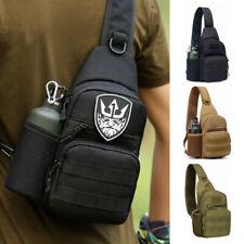 Men Backpack Molle Tactical Sling Chest Pack Shoulder Bag Outdoor Hiking Travel