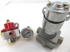 High Flow Performance Electric Fuel Pump Kit 115GPH W/ Billet Regulator & Gauge