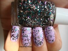 NEW! Essie nail polish lacquer in JAZZY JUBILANT ~ MIXED Glitter Top Coat