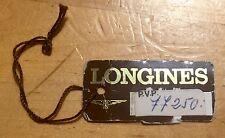 LONGINES TAG étiquette seal calatrava conquête diver compressor chrono flyback oem
