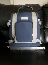 Cerruti image branded backpack in blue and grey