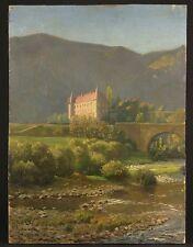Château de Lavoûte Polignac Gemälde Johannes Hendrik Eversen 1952
