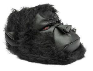 Men's British Footwear Gorilla King Kong Hairy Novelty Fun Quality 3D Slippers