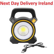 30W Solar Portable Rechargeable LED Flood Light Outdoor Garden Work Spot Lamp