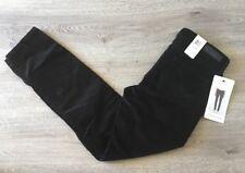 CALVIN KLEIN CORDUROY PANT ULTIMATE SKINNY STRETCH BLACK LOW RISE 6x30 WOMEN