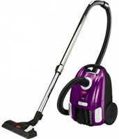 Purple Canister Vacuum Cleaner Compact Cord Rewind Home Floor Carpet Vaccum