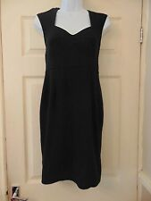 "Ladies black short sleeve dress - 32"" long - size 14 - Dorothy Perkins"