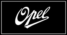 2x Opel Logo 1909 Schriftzug weiß Nostalgie 100x63 mm Aufkleber Sticker