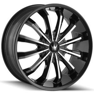 "Mazzi 341 Fusion 22x9.5 6x135/6x5.5"" +30mm Black/Machined Wheel Rim 22"" Inch"