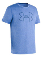 NWT UNDER ARMOUR UA Boy's Heather Graphic Tee Ultra Blue Youth Large New UPF 40