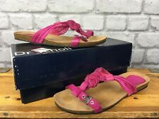 SCHOLL LADIES UK 6 EU 39 FUCHSIA PINK MOLOKAI T BAR LEATHER SANDALS HOLIDAY