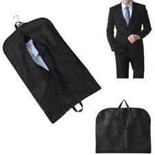 Coat Clothes Garment Suit Cover Zipper Bags Dustproof Hanger Storage Black LG
