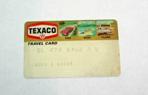 Vintage Expired Texaco Gas Credit Card - 1970's